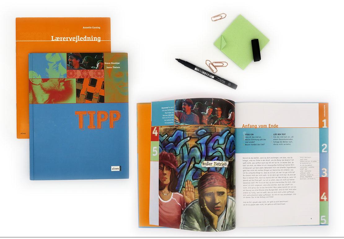 Bogdesign bogtilrettelægning undervisningsbøger