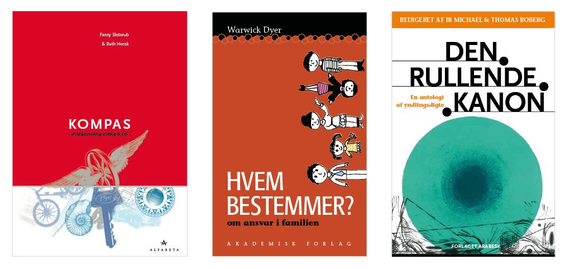 Design af bogomslag og opsætning af indhold for forskellige forlag