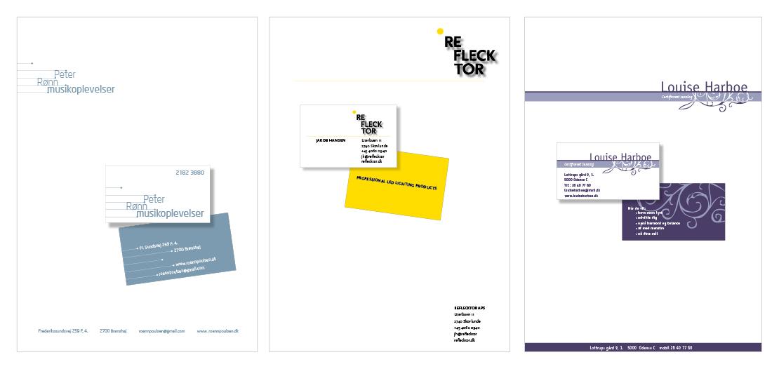 Design af logo og visuel identitet for enkeltmandsvirksomheder
