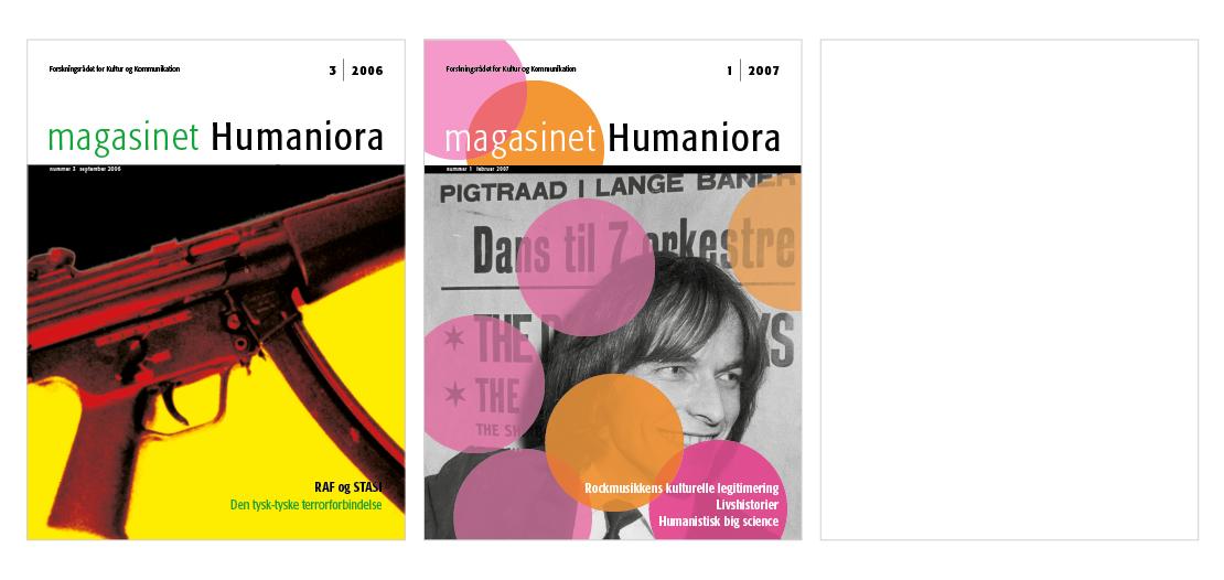 Magasindesign magasinet Humaniora for Forsknings og Innovationsstyrelsen
