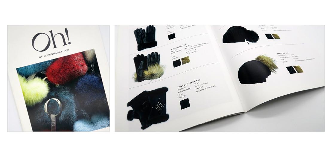 Layout og design af katalog for OH by Copenhagen Fur