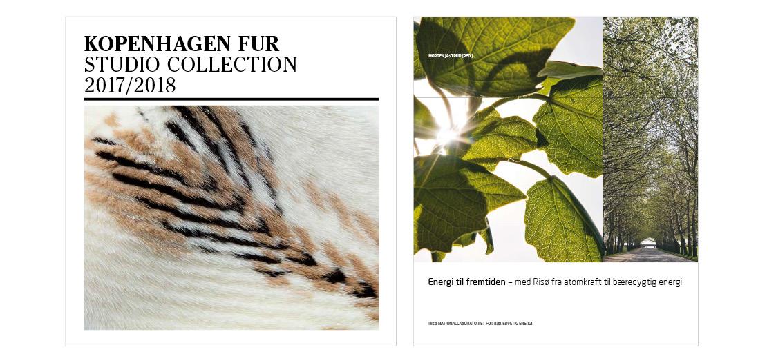 Grafisk design og layout af teknikbog for Kopenhagen Fur og grafisk design af jubilæumsbog for Risø